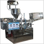 Laminated Tube Filling Machine with Sealing, Cutting and Batch Coding